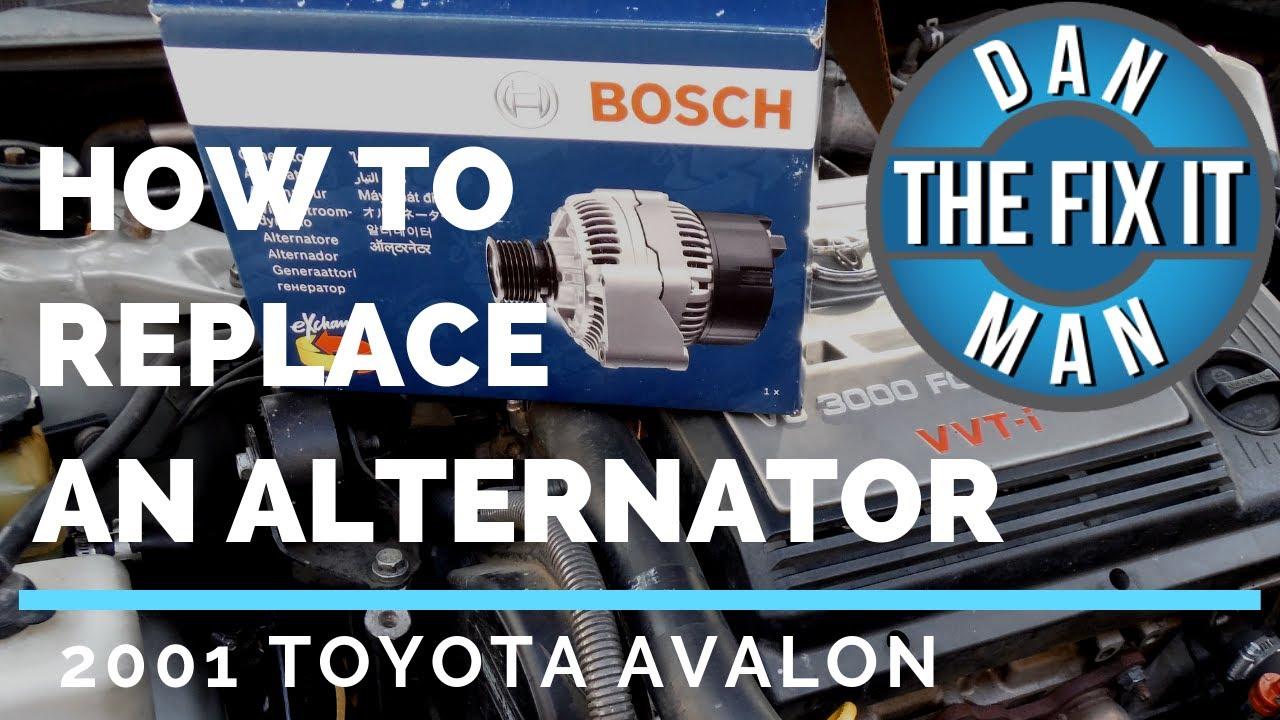 2001 toyota avalon alternator replacement diy bosch alternator youtube 2001 toyota avalon alternator replacement diy bosch alternator
