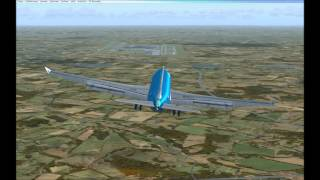 FSX Approach and Landing at Munich EDDM Wilco Airbus A330 KLM [Full HD]
