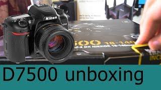 Nikon D7500 unboxing - فتح علبة كاميرا نيكون واهم المميزات
