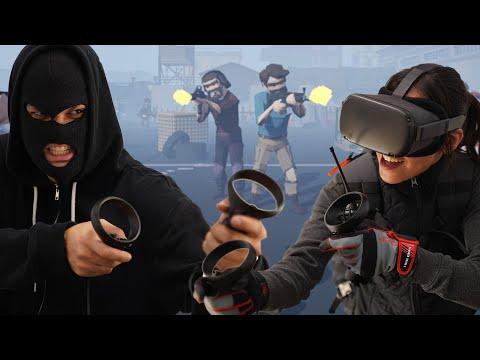 OCULUS QUEST Arena-Scale Gun Battle! - Free Multiplayer Triton VR