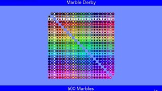 Marble Derby #1! Who Will Win In A 600 Marble Face-Off? Credits To ...