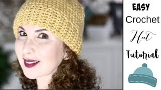 Easy Crochet Yellow Hat Tutorial