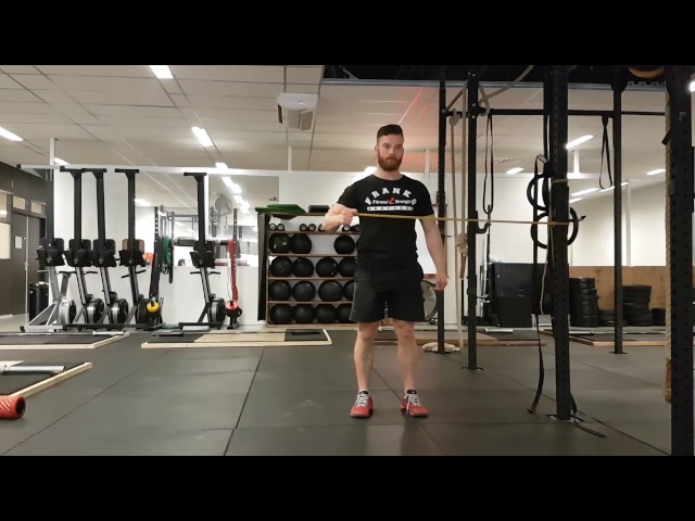 Shoulder exorotation with resistance band