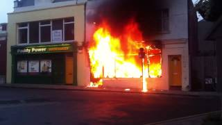 Shop fire in Dalkey county dublin