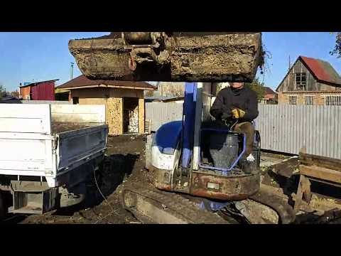 Мини экскаватор в Омске.  Выемка грунта,  с дальнейшей отсыпкой.