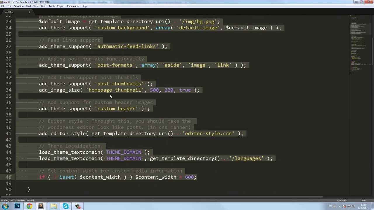 how to make a functions.php file wordpress
