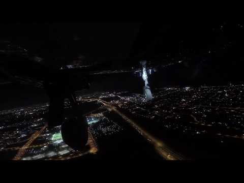 Diamond da 62 night flight