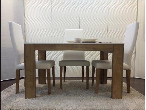mesa comedor extensible en madera de haya medida de 130x80