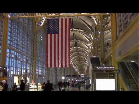 An HD video of Washington Reagan National Airport -- main terminal and US Airways gates