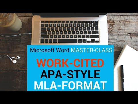How to create Work Cited, APA and MLA Format, Bibliography, Citation in Microsoft Word Master-class