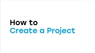 How to Create a Project in the Web App video thumbnail
