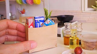 ASMR MINIATURE COOKING SHRIMP ASPARAGUS PASTA | KITCHEN SET | REAL MINIATURE FOOD