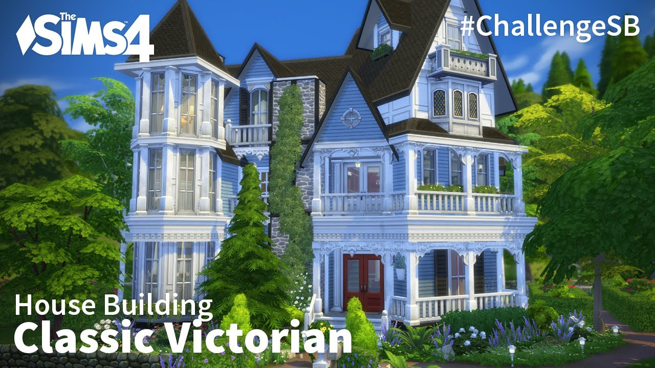 Classic victorian the sims 4 house building youtube for Classic house sims 4