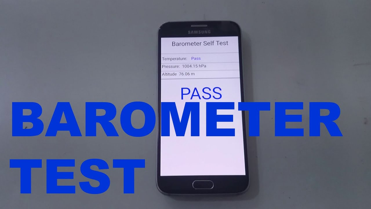 Samsung Galaxy S6 Barometer test