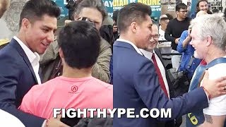 PACQUIAO GETS SURPRISE VISIT FROM ADRIEN BRONER
