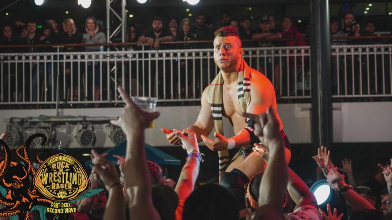 MJF GETS TOSSED OVERBOARD   AEW DYNAMITE ROCK N WRESTLING RAGER