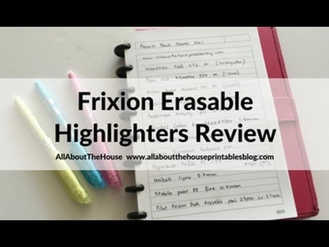 Frixion erasable highlighters by Pilot review - are they worth the cost?