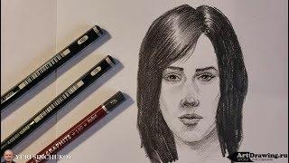 Как рисовать портрет девушки - уроки рисования