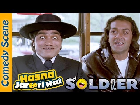 Johnny Lever Best Comedy Scene - Hasna Zaroori Hai - Soldier - Indian Comedy