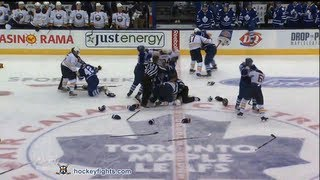 Repeat youtube video Buffalo Sabres vs Toronto Maple Leafs Brawl Sep 22, 2013