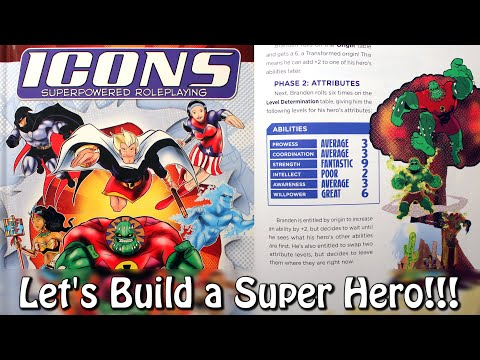 Super Hero RPG Character Creation Part 1 (Icons Superpowered Roleplaying)