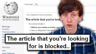 I got permanently banned from Wikipedia..
