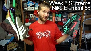 Supreme Eternal Tee, Nike React Element 55 red, teal black unboxing review + gift for bae