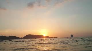 84 Тайланд январь 2019 заход солнца закат море горы отдых