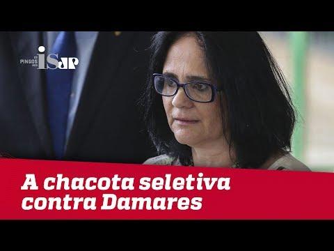 A chacota seletiva contra a ministra de Bolsonaro