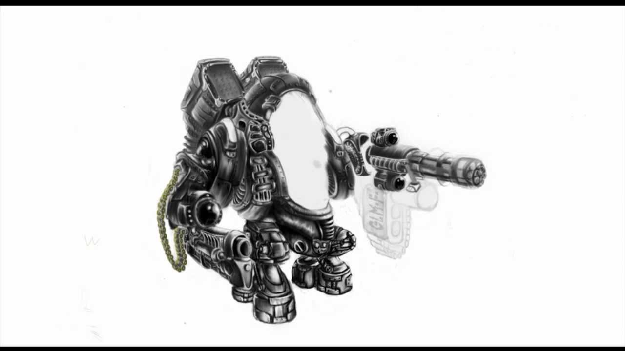 Draw a war robot picture step by step youtube