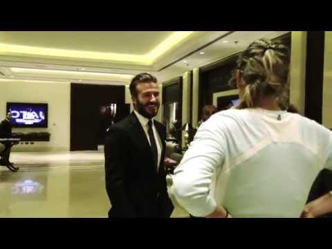 Victoria Azarenka Meets David Beckham