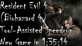 [TAS WR] Resident Evil 4 in 1:35:14 NewGame Speedrun on Gamecube