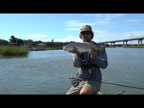 Fly Fishing For REDFISH Around Docks In The Lowcountry