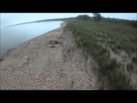 Port Austin MI viewed from quadcopter
