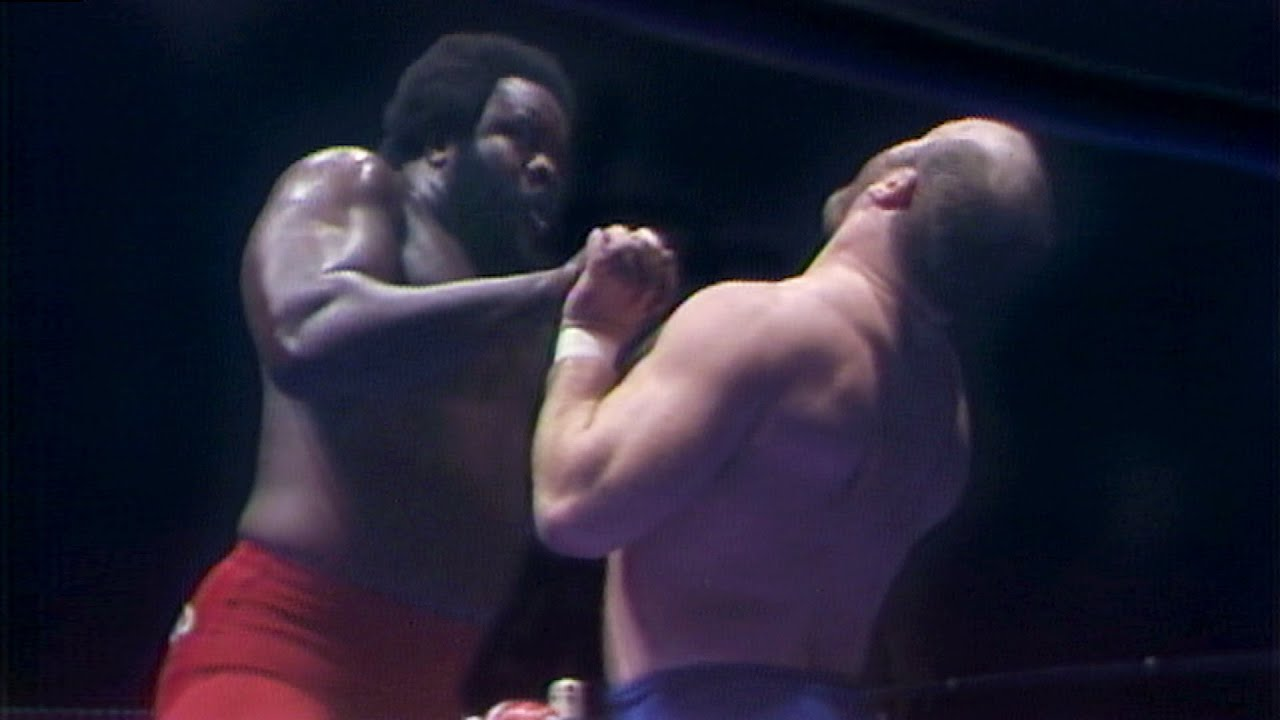 "Junkyard Dog sinks his teeth into ""Mad Dog"" Buzz Sawyer in rare Hidden Gem (WWE Network Exclusive)"
