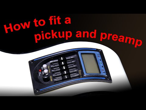 How to fit a pickup and preamp into an acoustic guitar