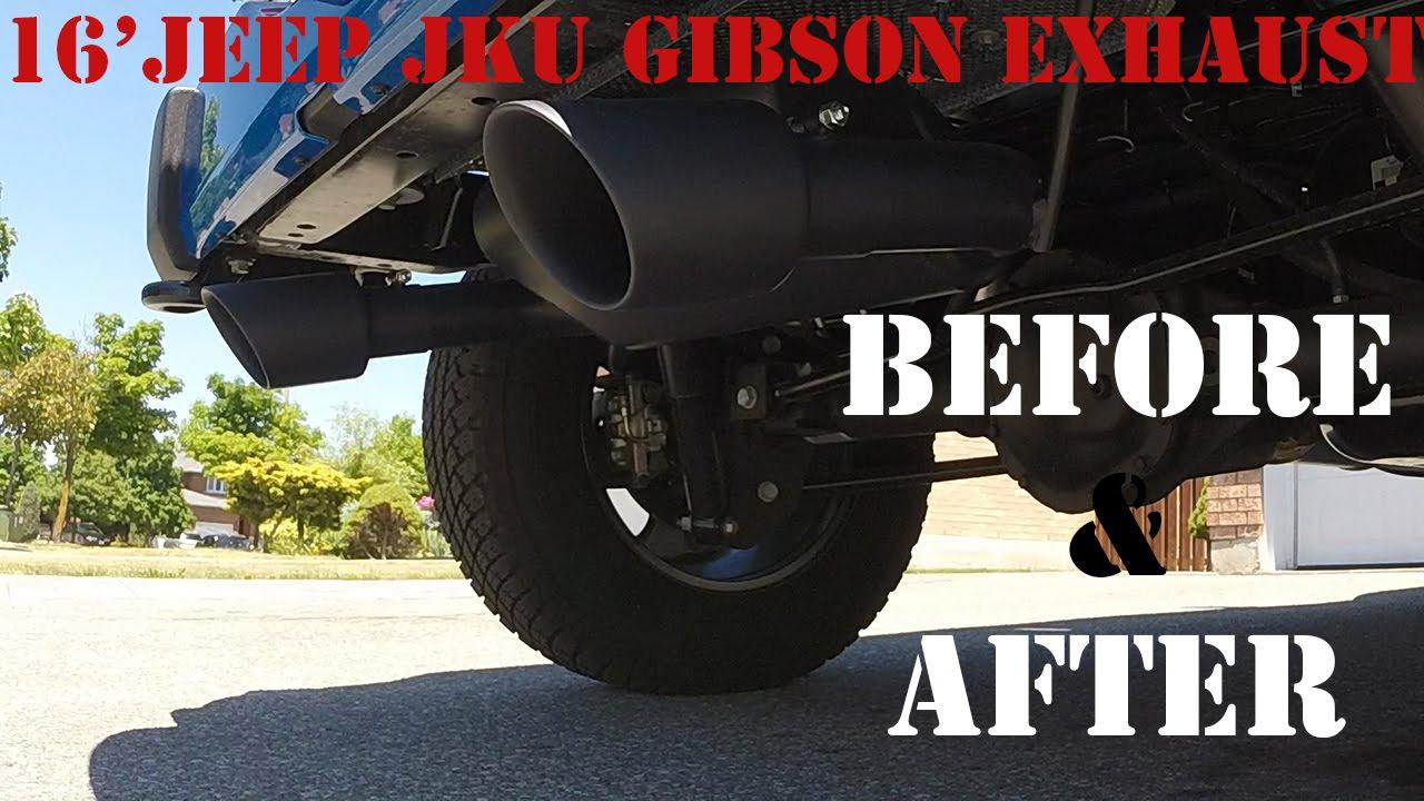 amazing sound gibson performance exhaust on jeep wrangler