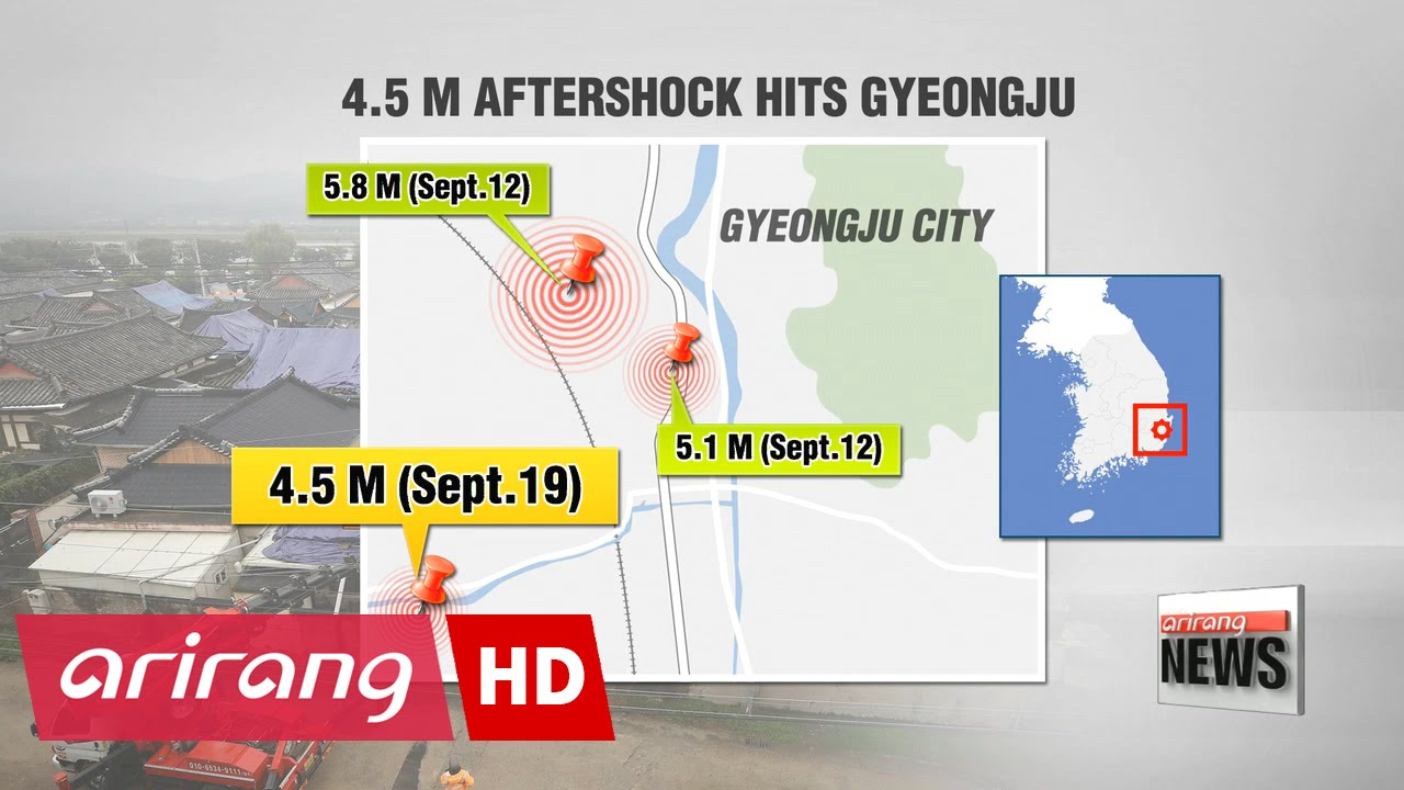 4 5 m aftershock hits southeastern city of gyeongju [ 1280 x 720 Pixel ]