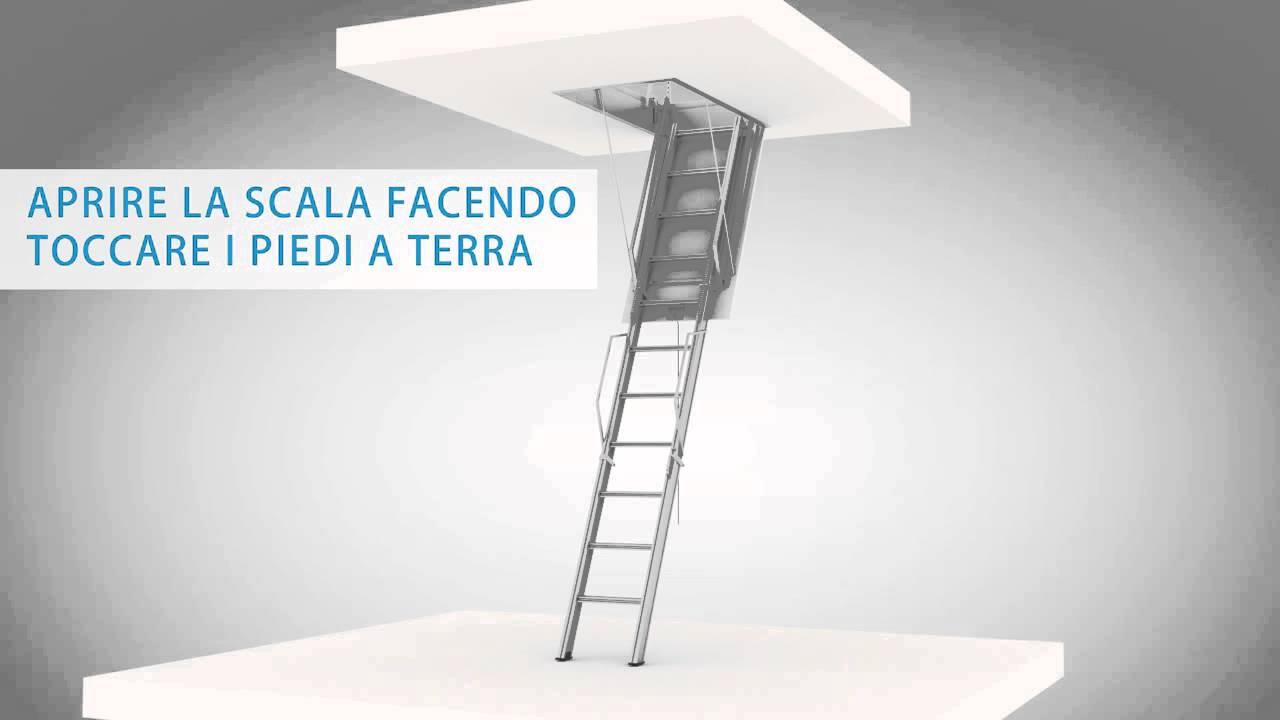 Montaggio scala retrattile aci tre youtube for Prezzi scale alluminio leroy merlin