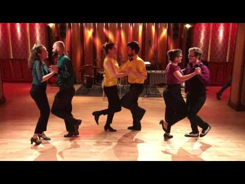 Stockholm Balbirds performing at Chicago swing dance studio