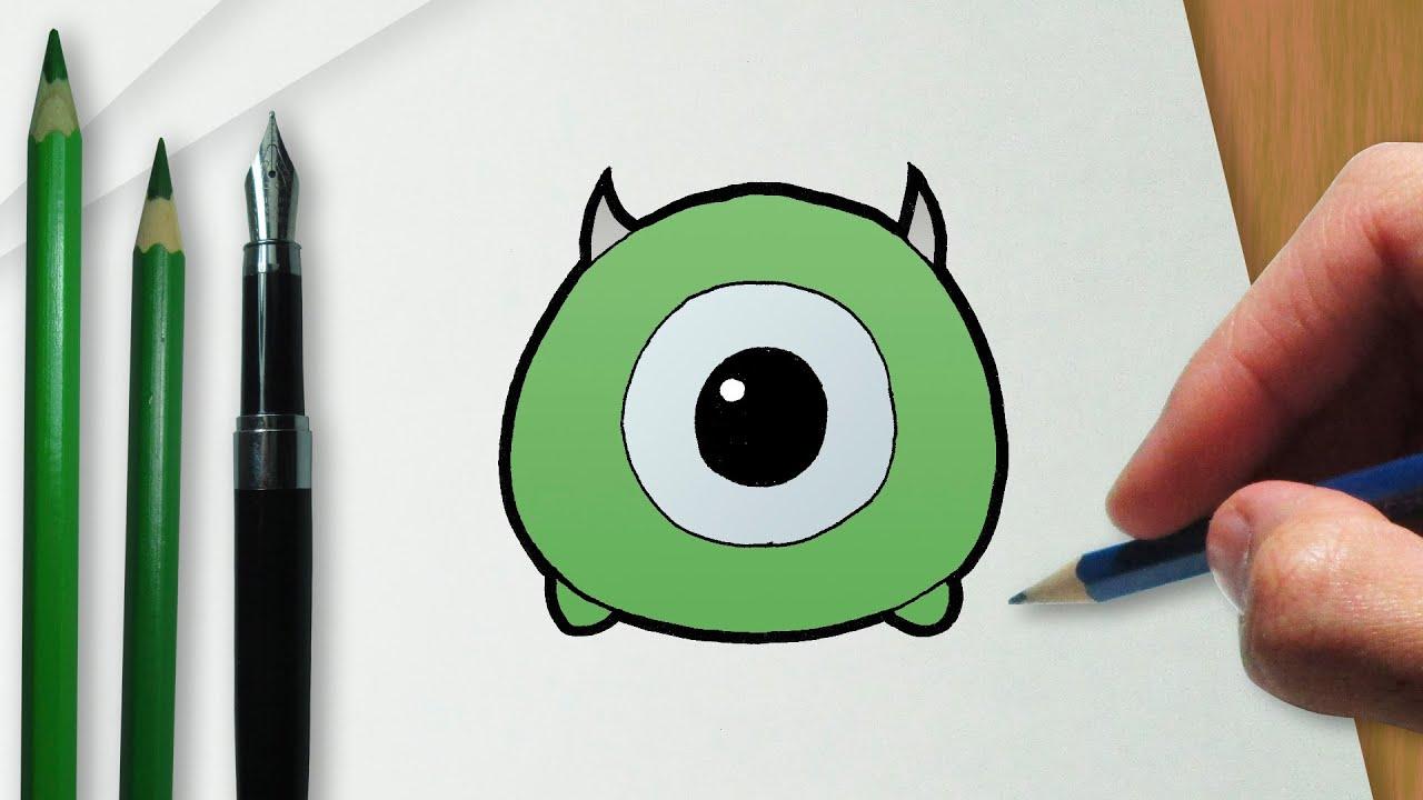 Disney Tsum Tsum Para Colorear Mike: How To Draw Mike Wazowski Disney Tsum Tsum Version