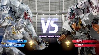 MARVEL VS. CAPCOM: INFINITE White Venom and White Panther vs Anti-Venom and White Thor