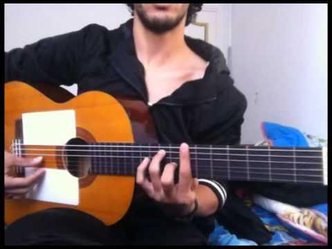 """Entre Dos Aguas --- Paco De Lucia ( Guitar Tutorial ) """" Part 1 """""""