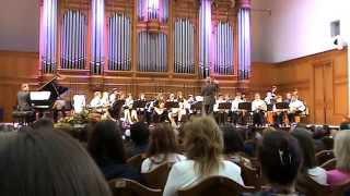 Отчетный концерт школы Прокофьева, народный оркестр.