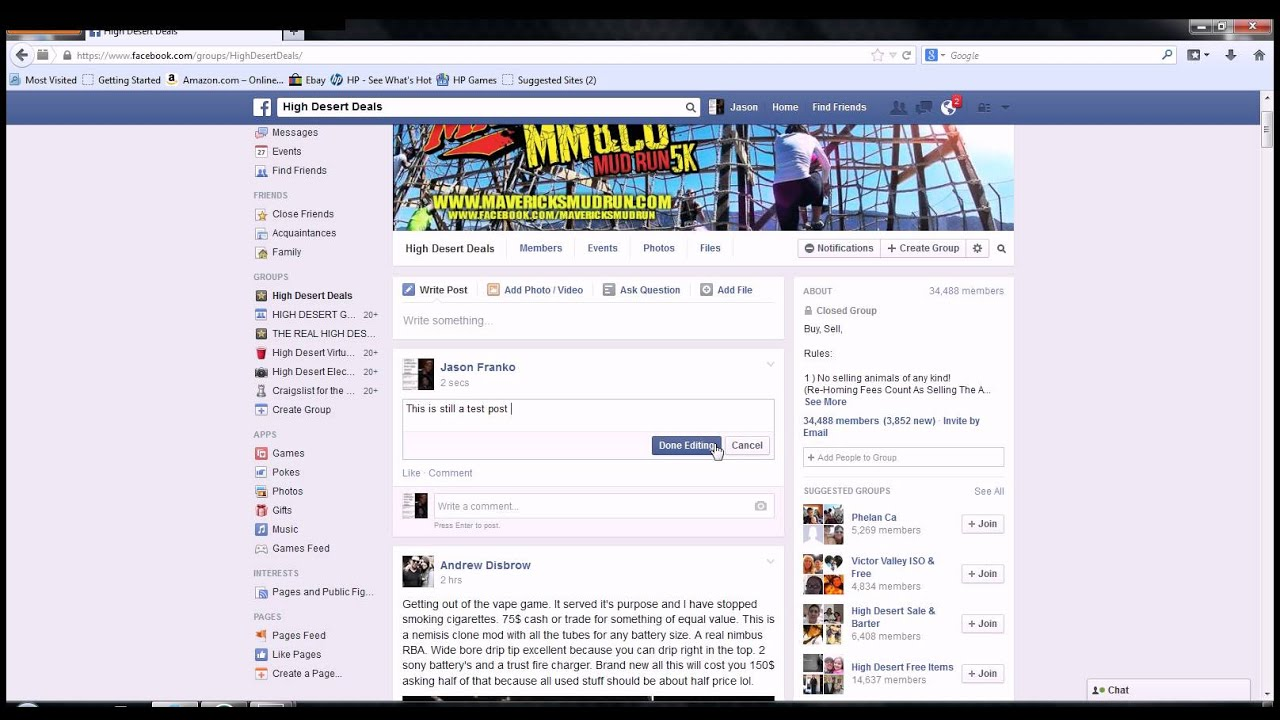 How to edit and delete a post on a facebook group youtube how to edit and delete a post on a facebook group ccuart Choice Image