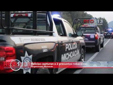 VIDEO Policías capturan a 2 presuntos robacarros