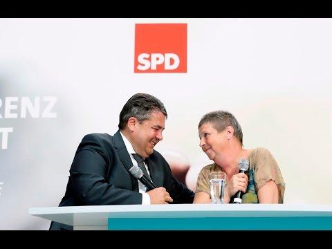 Gespräch zwischen Sigmar Gabriel und Susanne Neumann