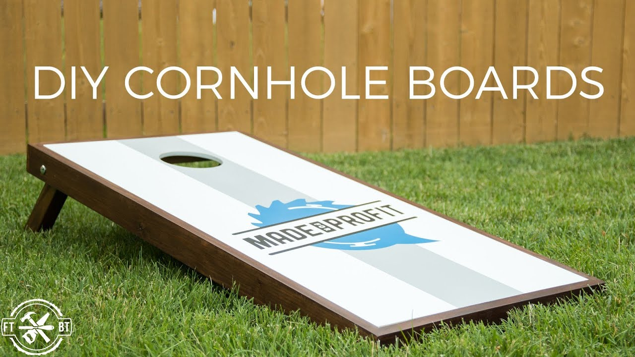 Diy Cornhole Boards With Style How To Make