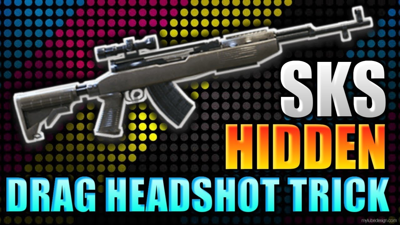 SKS drag headshot trick OP gun free fire battlegrounds