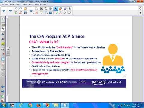 CFA June 2018 Level 1 - Equity - Mr. Cyrus Tsui - MScMF (Oxford), BEng (HKUST), CFA, FRM